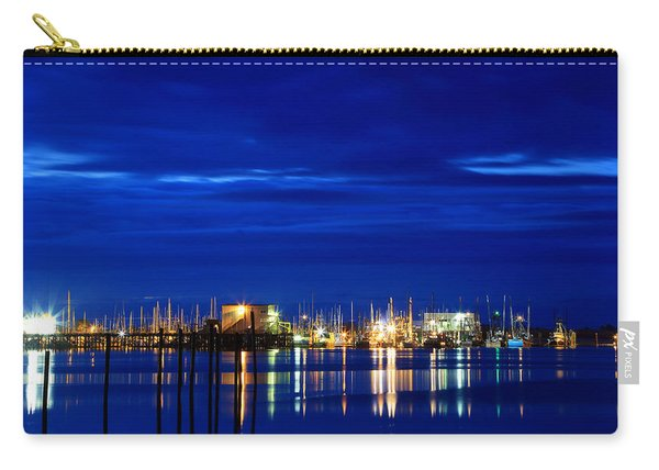 Fishing Village Blue Carry-all Pouch
