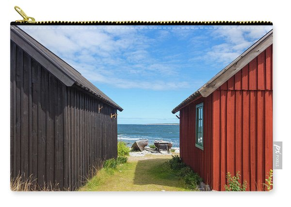 Fishing Village On Faro Island, Sweden Carry-all Pouch