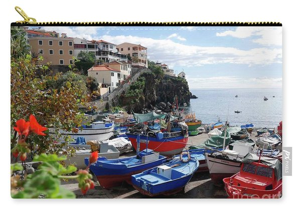 Fishing Village On The Island Of Madeira Carry-all Pouch