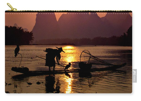 Fishing With Cormorants Carry-all Pouch