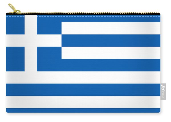 Flag Of Greece Carry-all Pouch