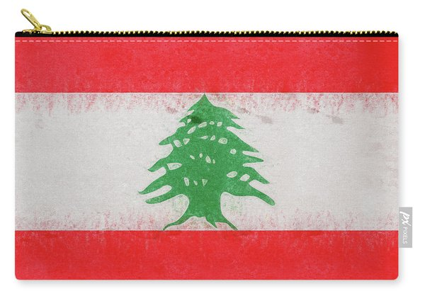 Flag Of Lebanon Grunge Carry-all Pouch