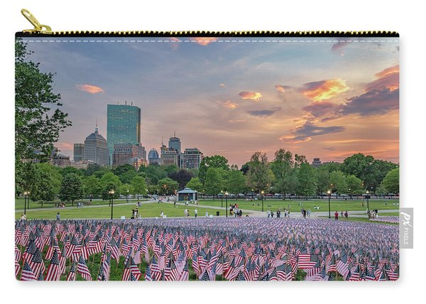 Flag Sunset On Boston Common Carry-all Pouch