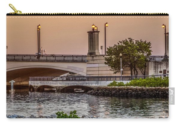 Flagler Bridge In The Evening Iv Carry-all Pouch