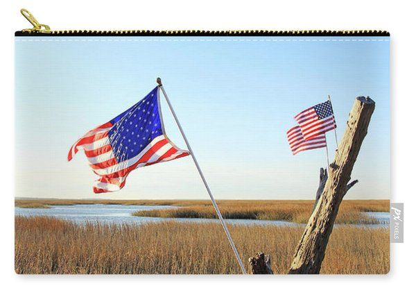 Flags Near Tybee Carry-all Pouch