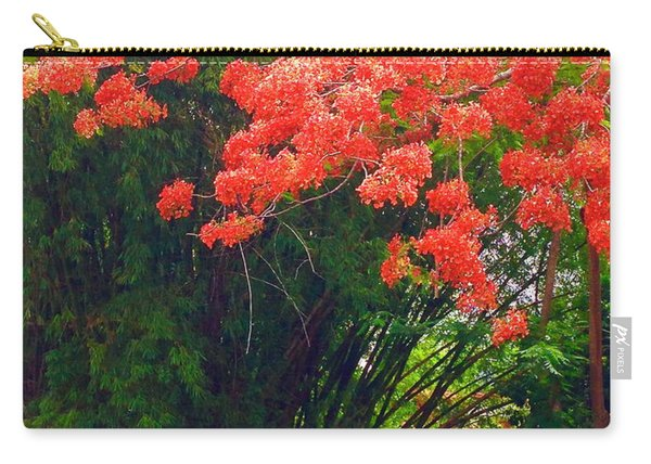 Flamboyant With Bamboo Carry-all Pouch