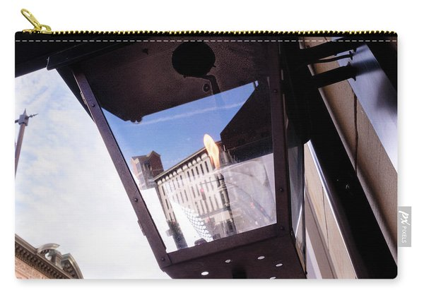 Flame In A Light Box Outdoors On The Street In Grand Rapids Michigan Carry-all Pouch