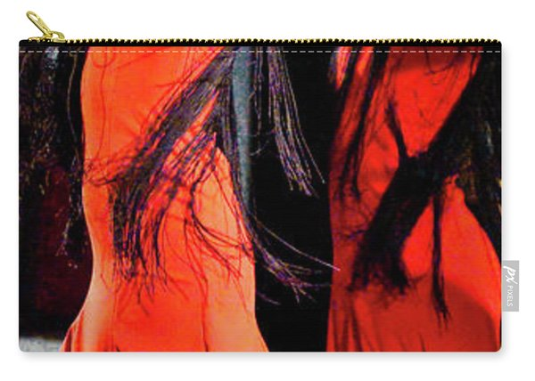 Carry-all Pouch featuring the photograph Flamenco 38 by Catherine Sobredo
