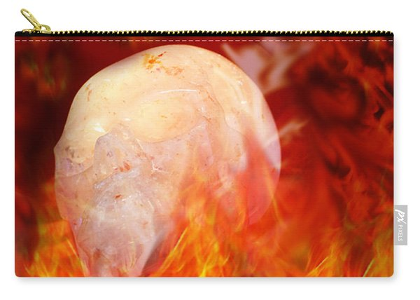 Flaming Crystal Skull Carry-all Pouch