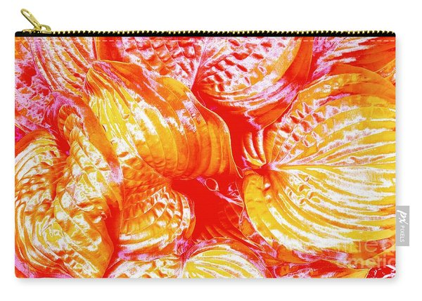 Flaming Hosta Carry-all Pouch
