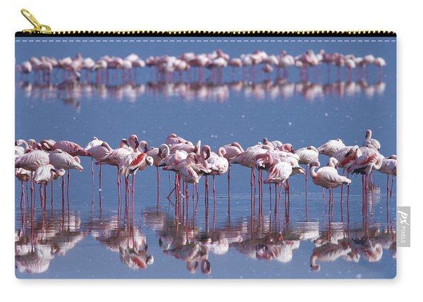 Flamingo Reflection - Lake Nakuru Carry-all Pouch