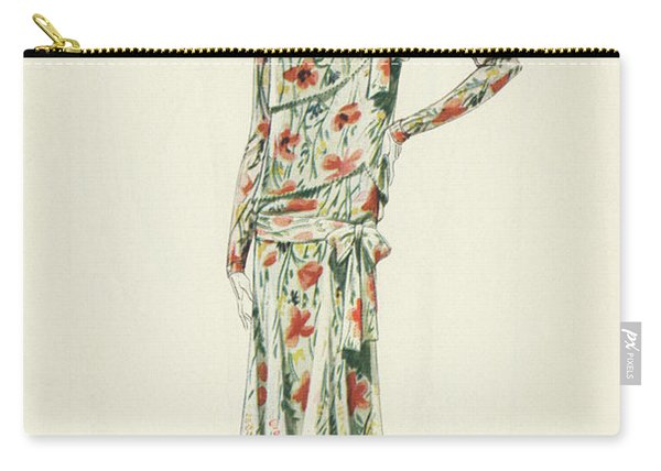 Flapper In An Afternoon Dress Carry-all Pouch