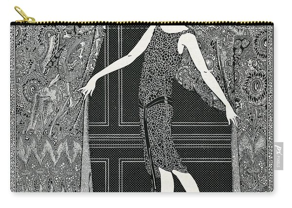 Flapper Opening A Curtain Carry-all Pouch