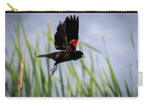 Flash Of Red Carry-all Pouch