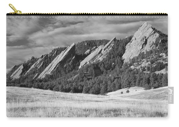 Flatiron Morning Light Boulder Colorado Bw Carry-all Pouch