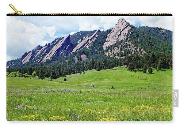 Flatirons Of Boulder, Colorado Carry-all Pouch