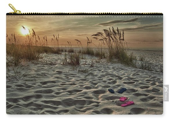 Flipflops On The Beach Carry-all Pouch