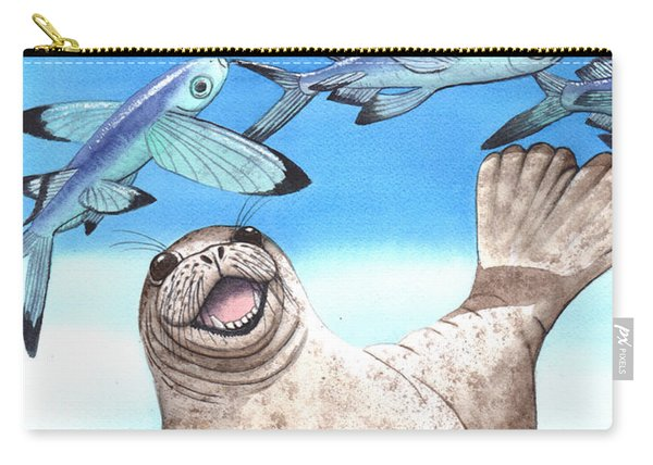 Flock Of Fish Carry-all Pouch