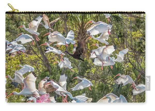 Flock Of Mixed Birds Taking Off Carry-all Pouch