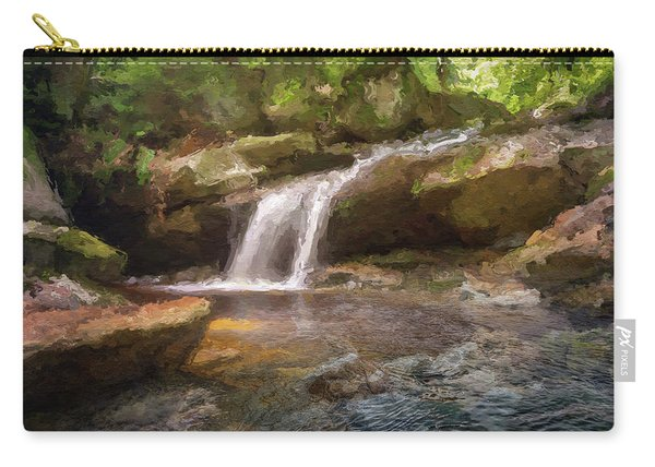 Flooded Waterfall In The Forest Carry-all Pouch