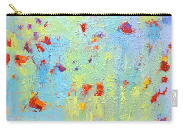 Floral Abstract Coloful Painting Carry-all Pouch