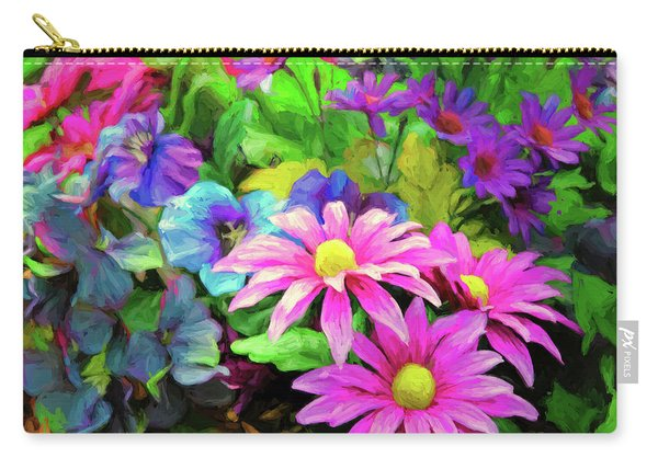 Floral Bouqet Carry-all Pouch
