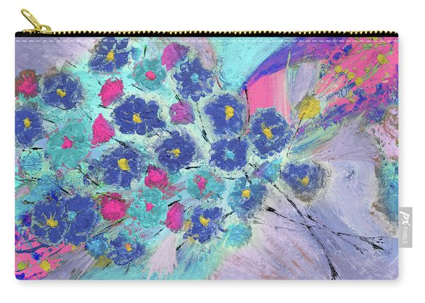 Floral Bouquet Abstract Painting  Carry-all Pouch