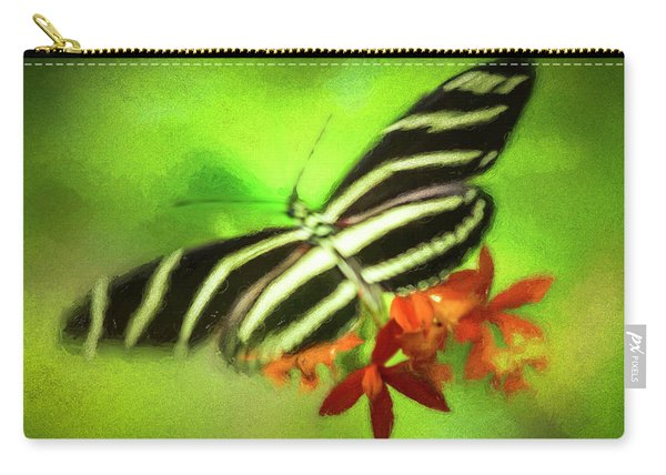 Floral Butterfly Carry-all Pouch