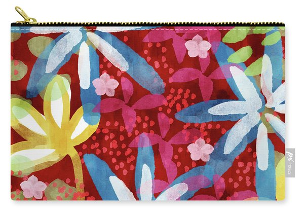 Floral Fantasy 2- Art By Linda Woods Carry-all Pouch