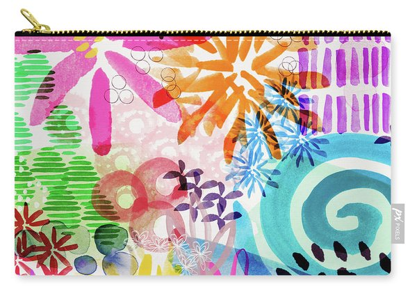 Floral Fantasy- Art By Linda Woods Carry-all Pouch