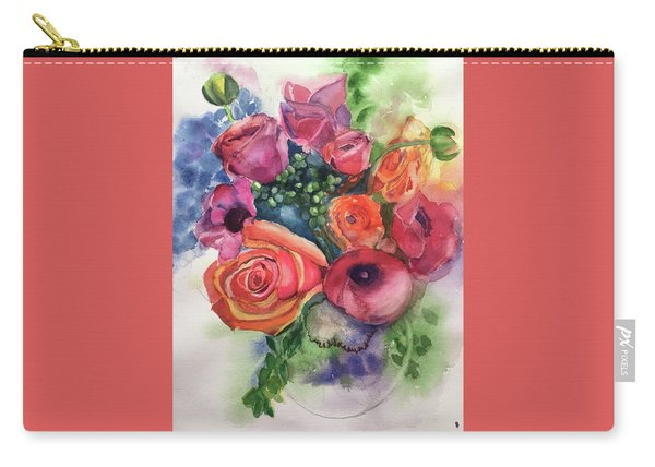 Floral Fantasy Carry-all Pouch