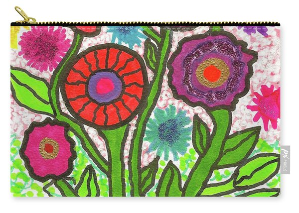 Floral Majesty Carry-all Pouch