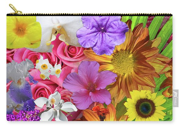 Floral Multitude Carry-all Pouch