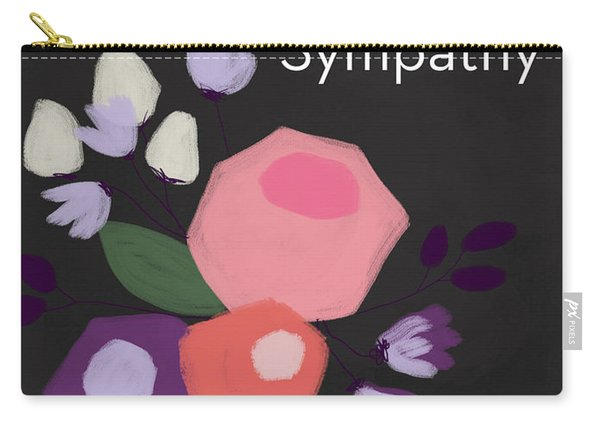 Floral Sympathy Card- Art By Linda Woods Carry-all Pouch