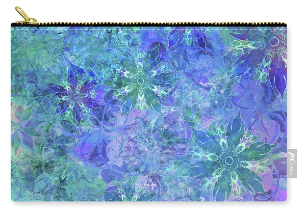 Floral Watercolor Blue Carry-all Pouch