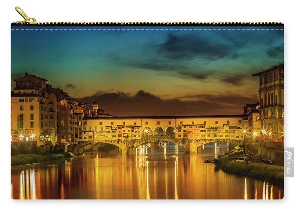 Florence Ponte Vecchio At Sunset Carry-all Pouch