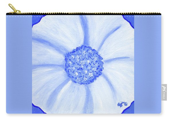 Flower Blue Power Carry-all Pouch