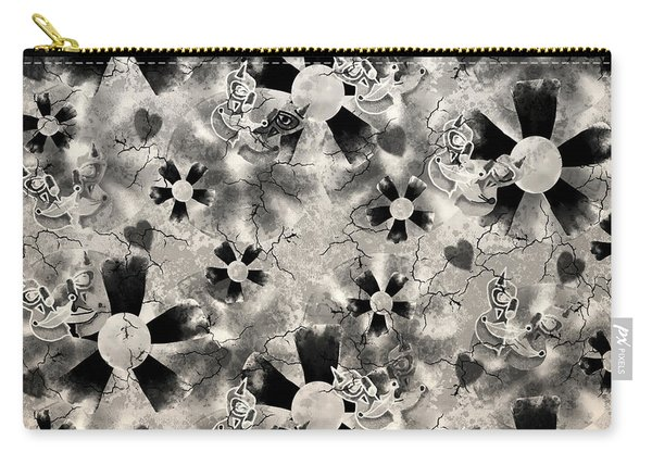 Flower Clown Pattern In Black Carry-all Pouch