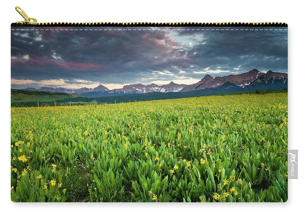 Flower Field And Sneffels Range Carry-all Pouch