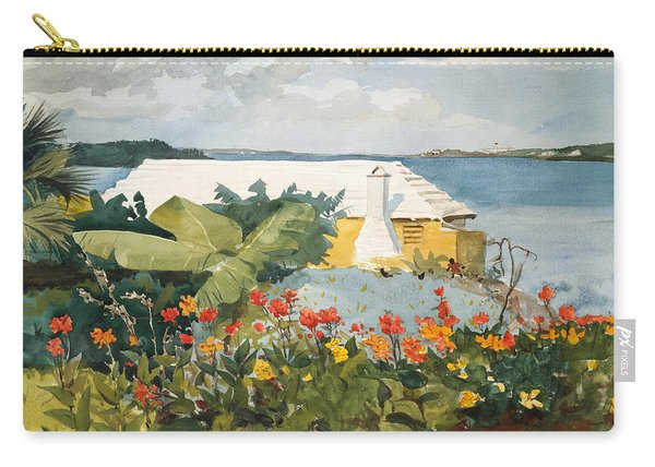 Flower Garden And Bungalow Carry-all Pouch