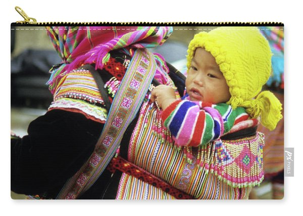 Flower Hmong Baby 06 Carry-all Pouch