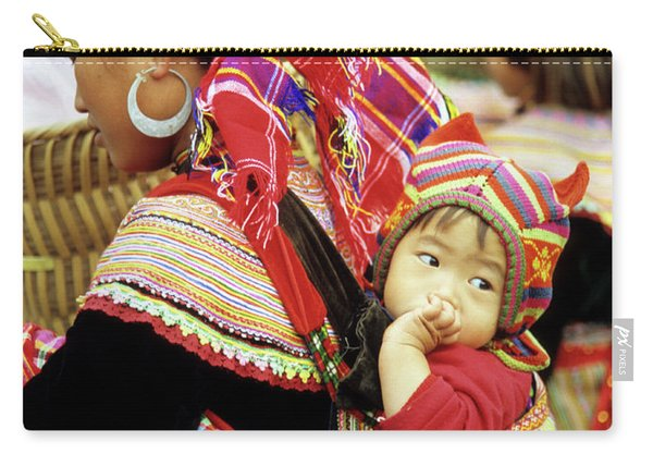 Flower Hmong Baby 07 Carry-all Pouch