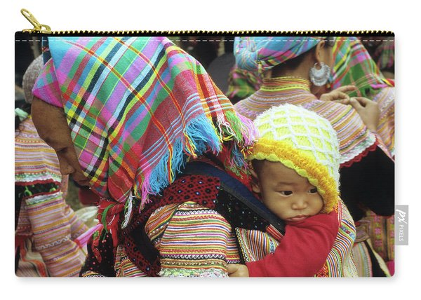 Flower Hmong Baby 08 Carry-all Pouch