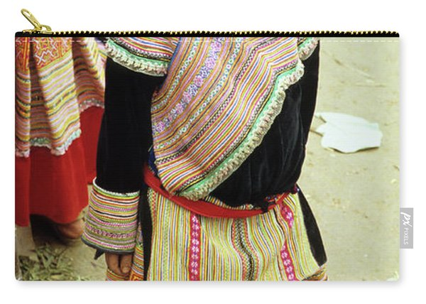 Flower Hmong Girl 04 Carry-all Pouch