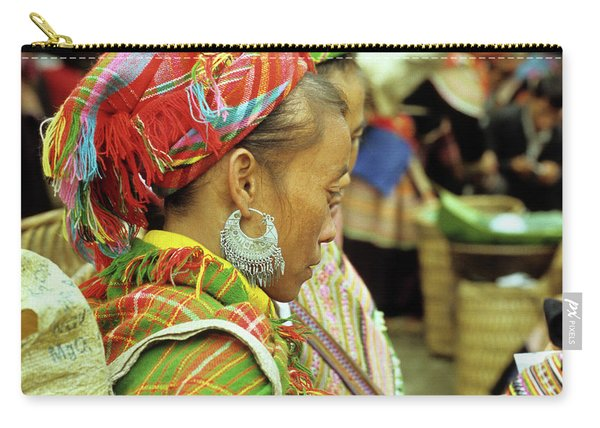 Flower Hmong Woman 02 Carry-all Pouch