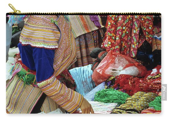 Flower Hmong Woman 03 Carry-all Pouch