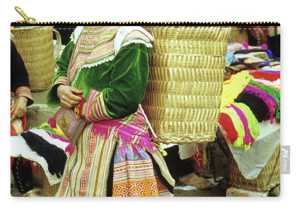 Flower Hmong Woman 04 Carry-all Pouch