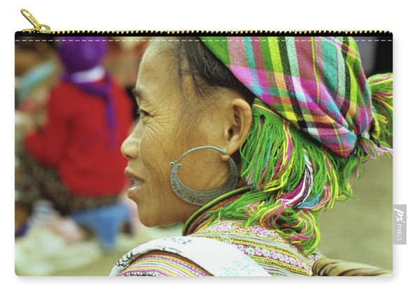 Flower Hmong Woman 05 Carry-all Pouch