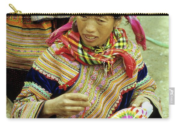 Flower Hmong Woman 06 Carry-all Pouch