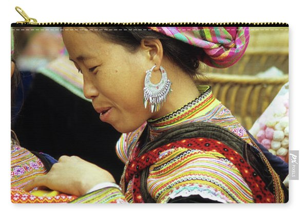 Flower Hmong Woman 07 Carry-all Pouch